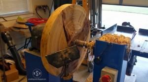 hickory, lathe, platter