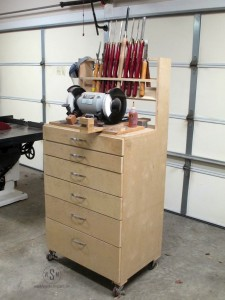 Lathe Tool Cart, wood turning, lathe, tools