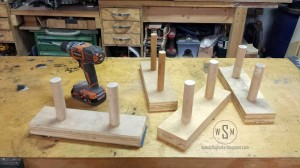 Work Bench Storage Hack, Keeping Sanding Blocks Out of Sight But Close at Hand