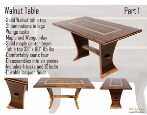Walnut Trestle Table Video 1 of 3
