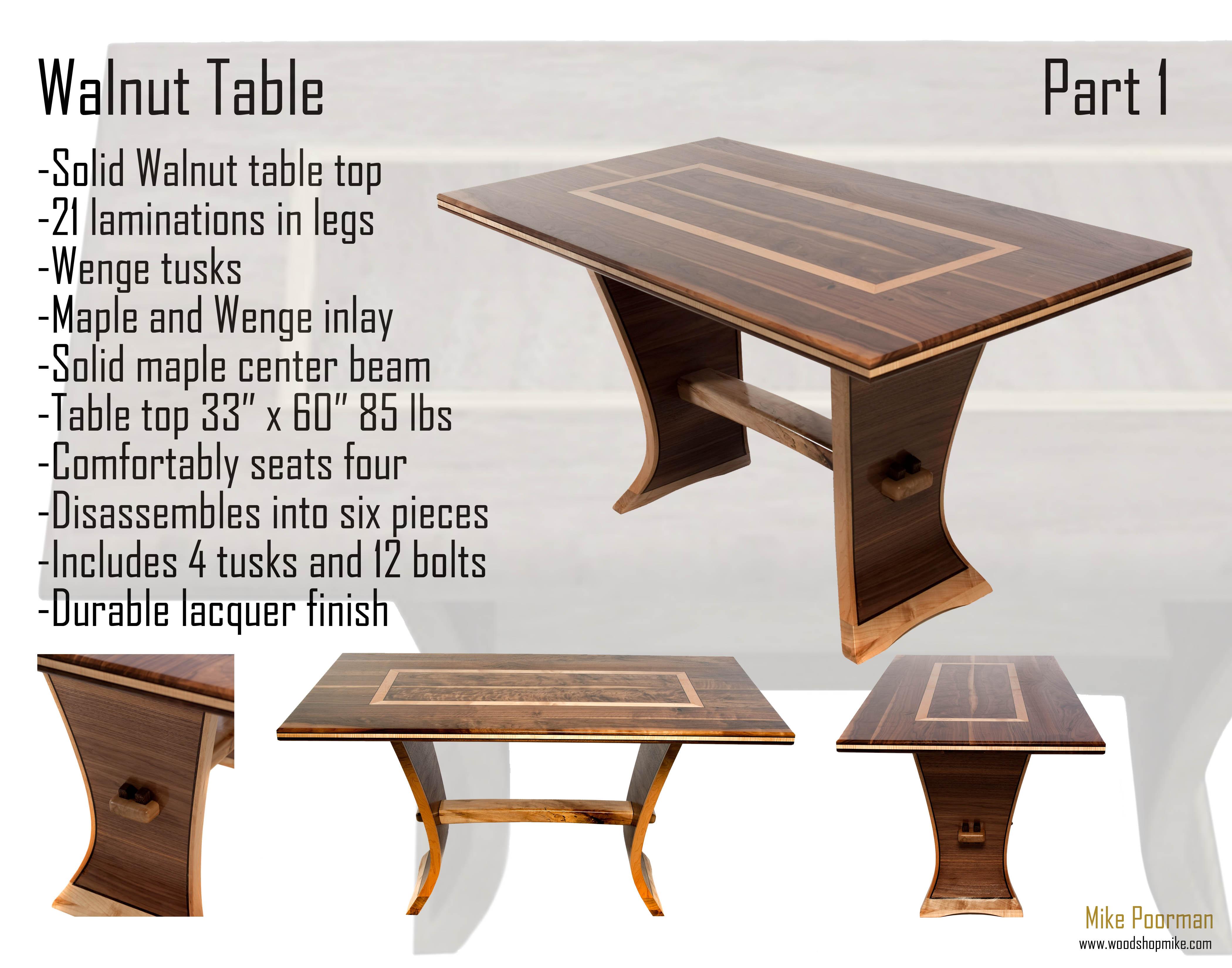 Walnut Trestle Table Video 1 of 3