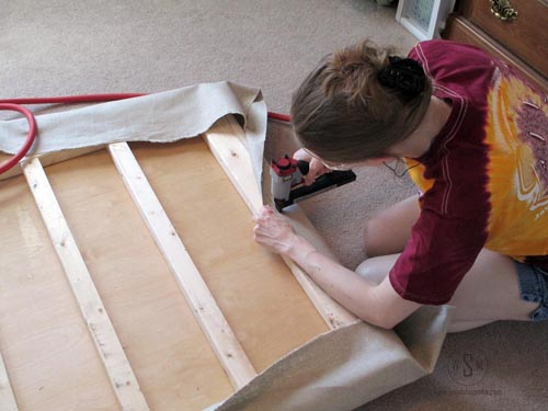 Upholsterting Canvas