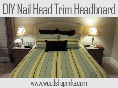 Featured Image, DIY Nail Head Trim Canvas Headboard