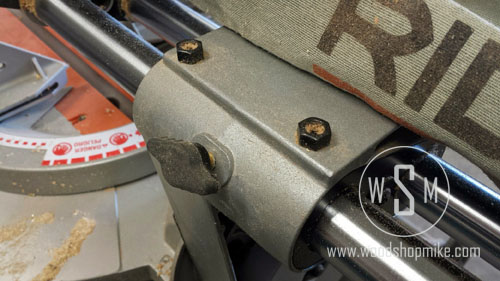 Glide Rail Adjustment, Ridgid MS1290LZA
