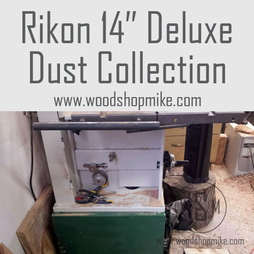 Rikon 14″ Deluxe Bandsaw,  Dust Collection Improvement