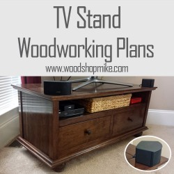 TV Stand Finished!  Get the Plans Too!!