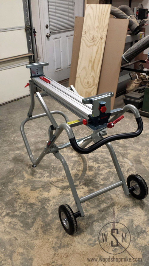 BOSCH Gravity Rise Miter Saw Stand, Ready for Saw