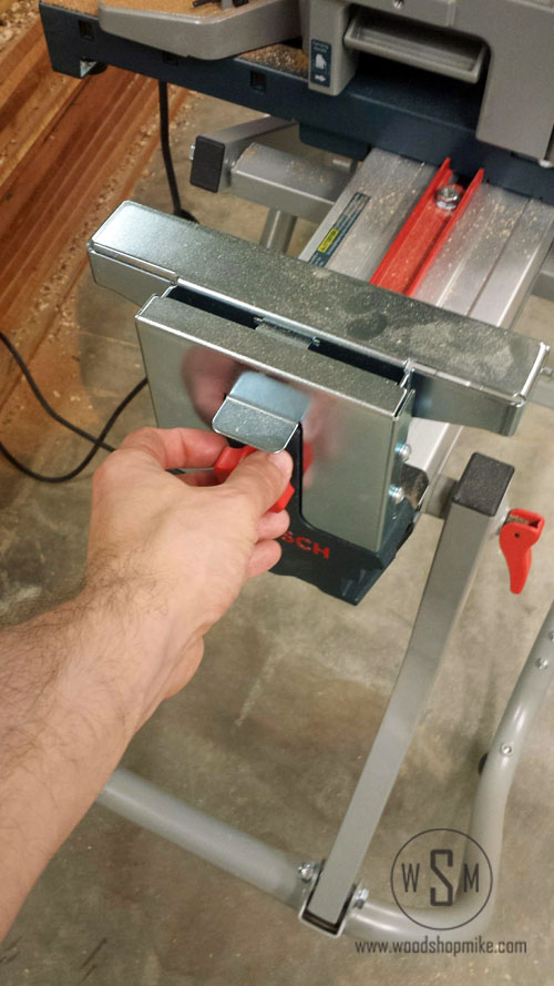 BOSCH Gravity Rise Miter Saw Stand, Stop Lock
