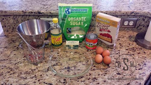 Gluten Free Key Lime Pie, Ingredients