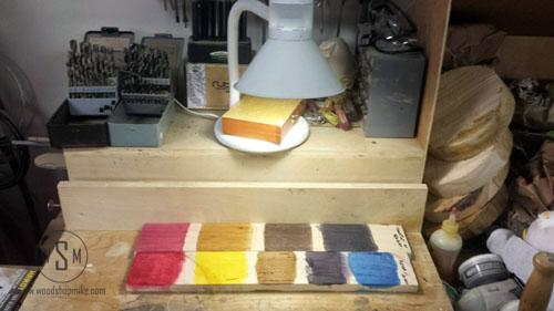 KEYDA Wood Dye & Transtint UV Test