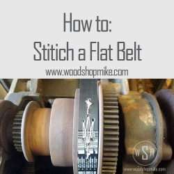Stitching a Flat Belt for Machinery