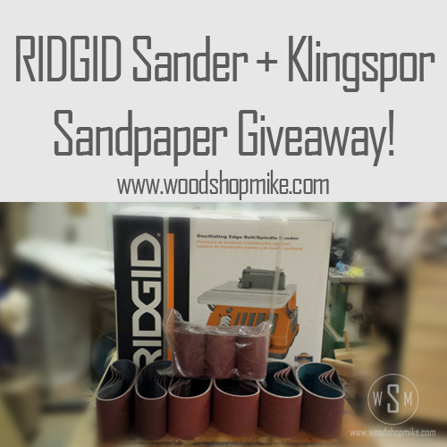 Ridgid Oscillating Sander Amp Klingspor Sandpaper Giveaway