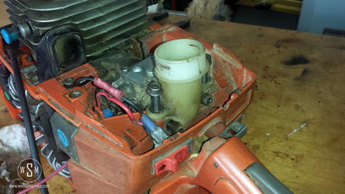 Intake Side, Remove Screws From Air Filter Hold Down