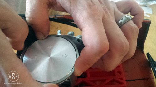 New Piston, Install Rings Hand Placement 2