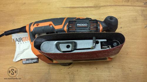 belt change 1, ridgid sander