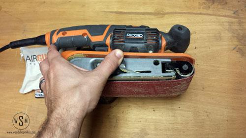 belt change 2, ridgid sander