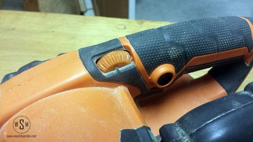 speed dial & trigger lock, ridgid sander