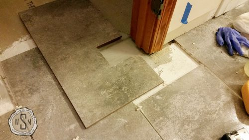 Notching Around Door Casing, Tile, Master Bath Remodel, Flooring
