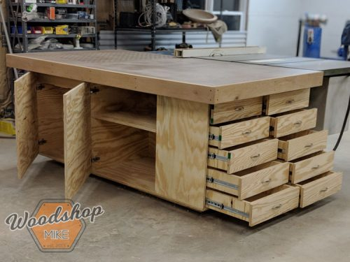 Outfeed Workbench Finished-DIY Outfeed Workbench Landscape