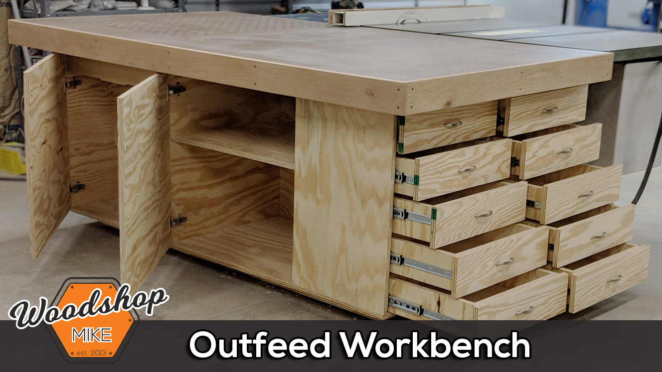 Incredible Table Saw Outfeed Table With Plans Woodshop Mike Home Interior And Landscaping Oversignezvosmurscom