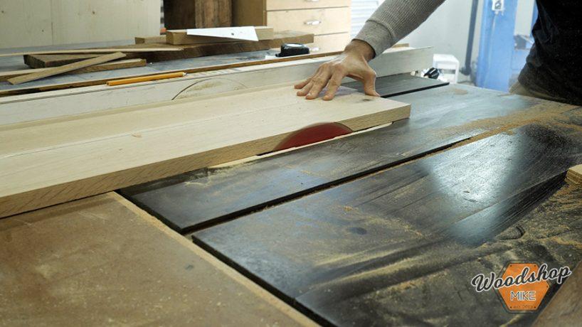 Cutting Bench Top - DIY Farmhouse Entryway Bench