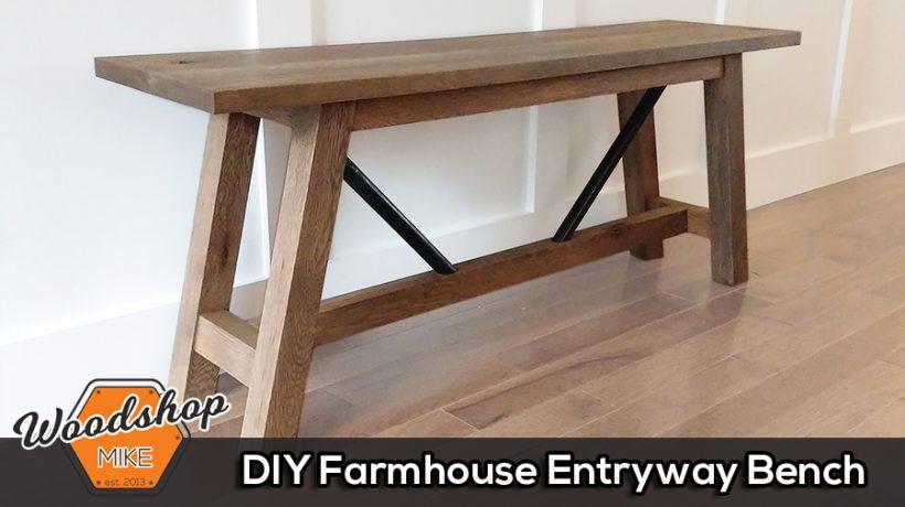 Thumbnail - DIY Farmhouse Entryway Bench