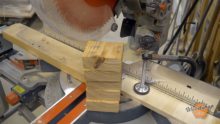 Cutting 2x4 With Mitersaw - How to Make a DIY Vintage Marquee Sign