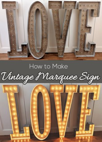 How to Make Vintage Marquee Sign