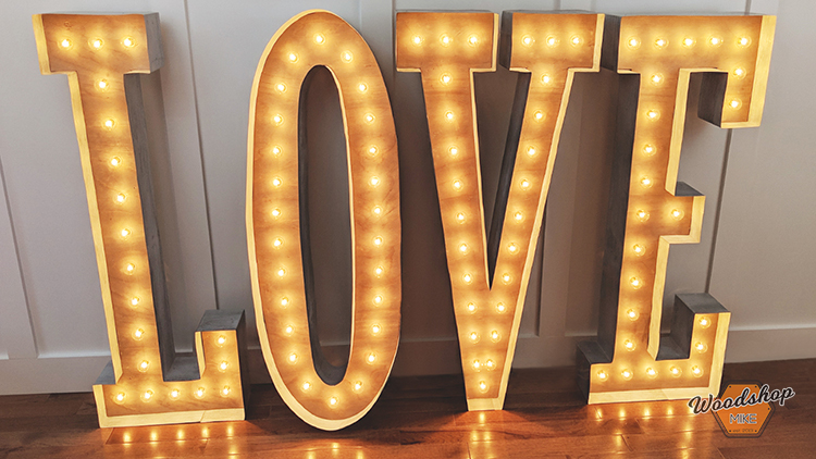 Vintage Marquee Sign with Lights