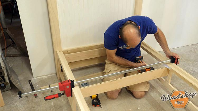 Drawer Slide Support DIY Farmhouse Platform Bed