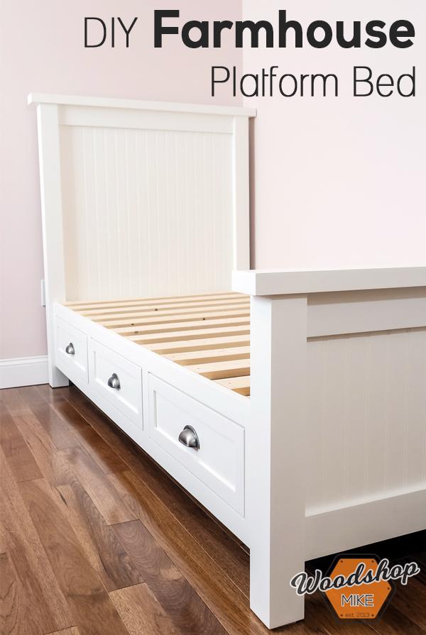 DIY Farmhouse Platform Bed