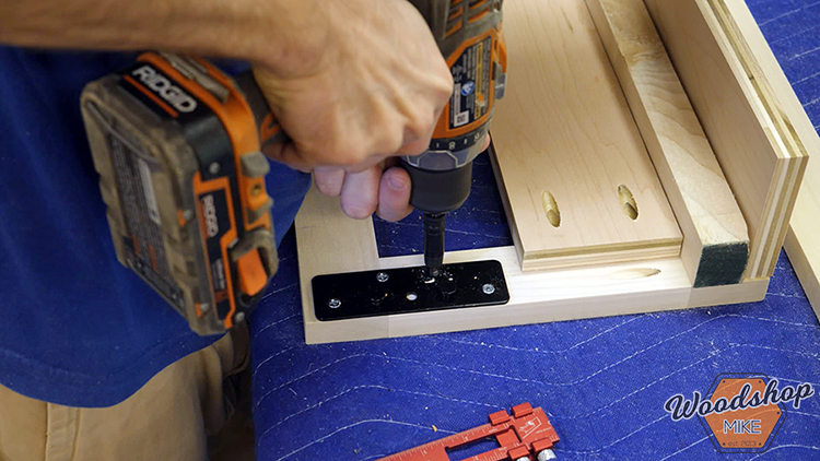 Rockler Keyhole Bed Rail Hardware Install DIY Farmhouse Platform Bed