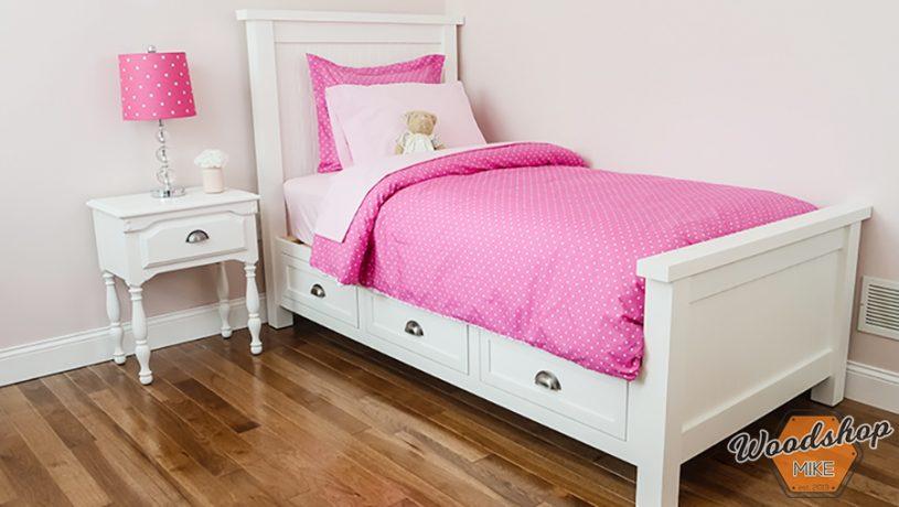Staged DIY Farmhouse Platform Bed